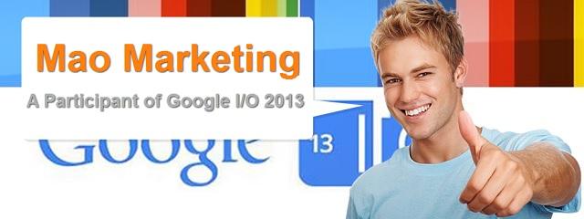 Mao Marketing at Google IO 2013 San Francisco